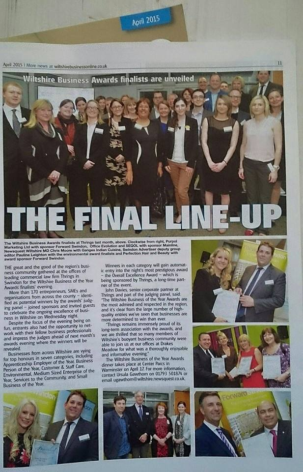 Michelle features in The Wiltshire Business Magazine