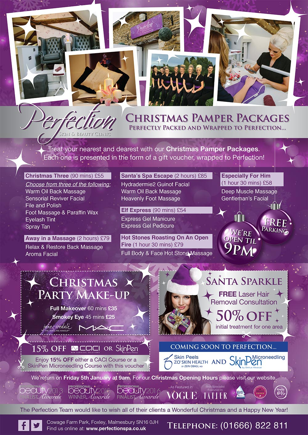 Christmas Pamper Packages 2017